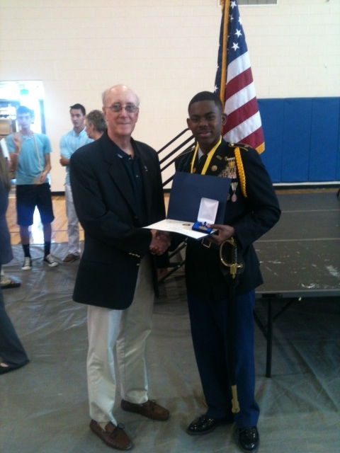 Leadership Award for Trask H.S. JROTC Cadet Maj. T. Lee