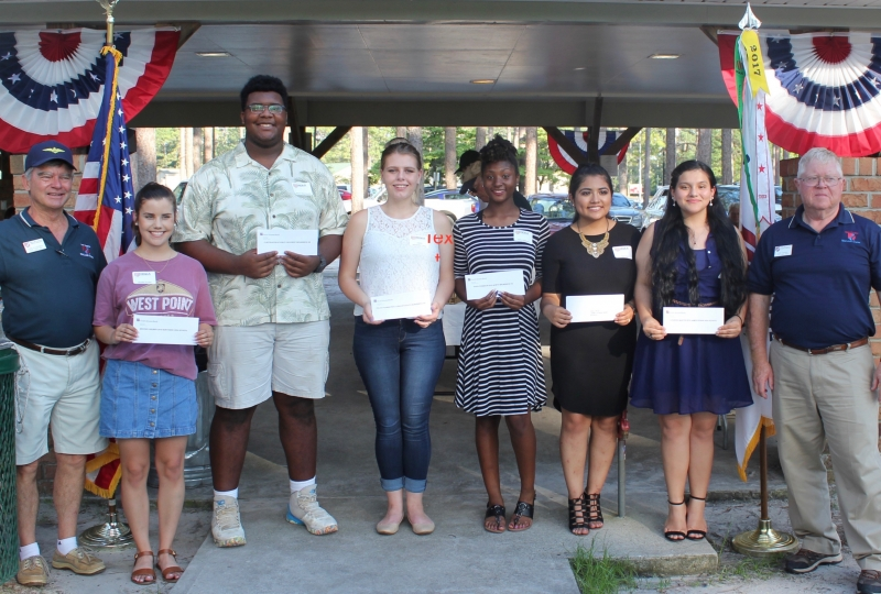 Scholarships Awarded to JROTC Students Awarded at June 1 Picnic