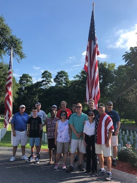SENCLAND Members Post Colors at Wilmington National Cemetery
