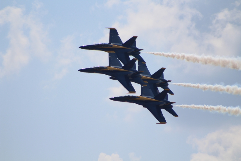Thunderbirds and Blue Angels Flyover NYC May 2020